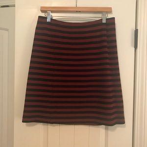 EUC Banana Republic Burgundy/Black skirt size 2